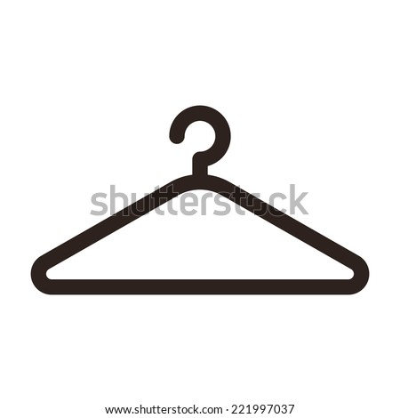 Shutterstock Hanger icon isolated on white background