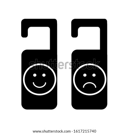 hanger tags icon with smile and