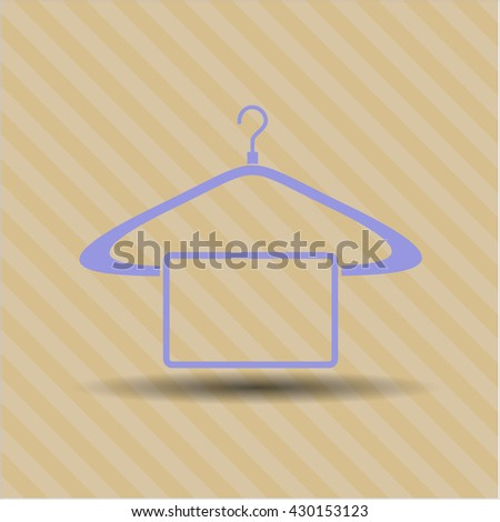 hanger with towel icon vector symbol flat eps jpg app