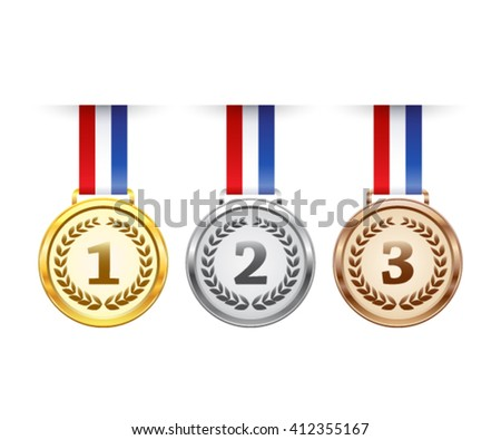 Hanging award medals set