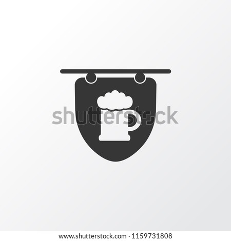 Hanging banner icon symbol. Premium quality isolated tavern element in trendy style.