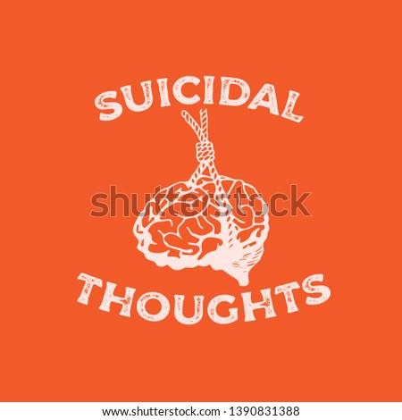 hanging brain illustration