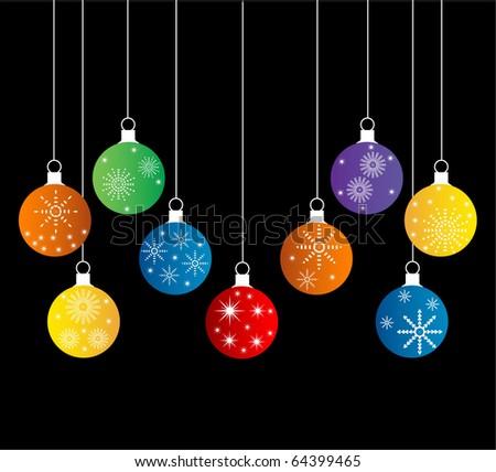 hanging christmas balls