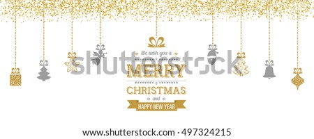 Hanging Christmas Decoration with Christmas Elements and Greetings