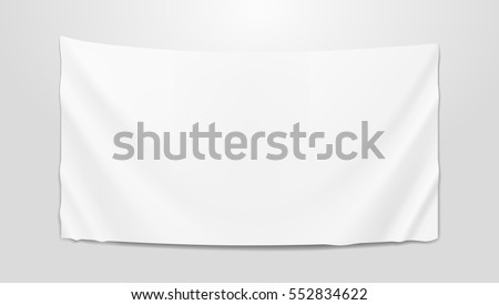 Hanging Clear White Flag Template. EPS10 Vector
