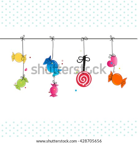hanging colorful sweet candies