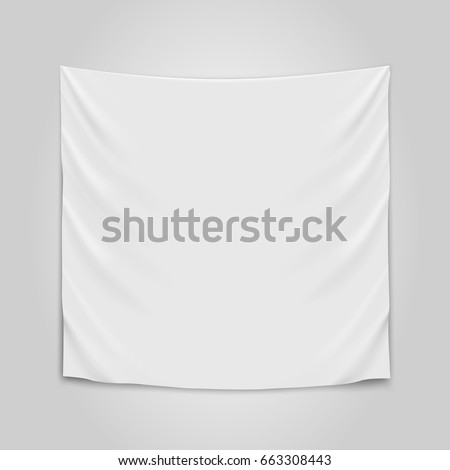 hanging empty white cloth