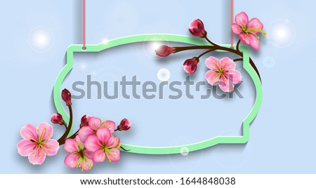 hanging figured frame with