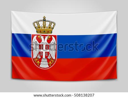 hanging flag of serbia