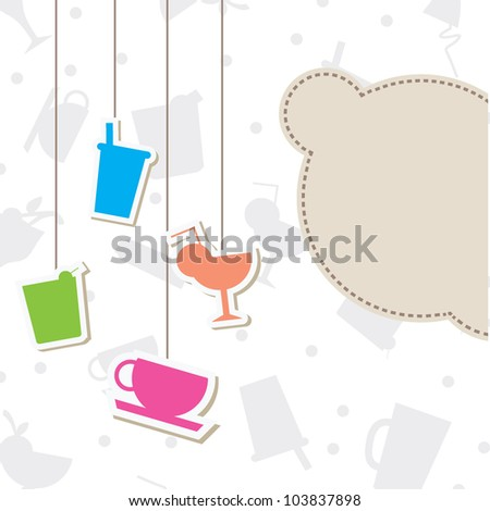 hanging glasses silhouettes background with blank billboard