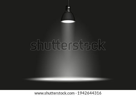 hanging lamp in dark room