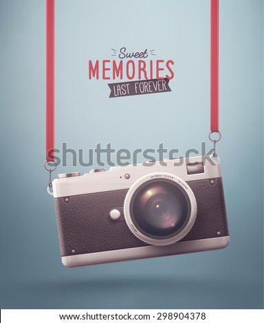 hanging retro camera  sweet