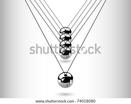 Hanging silver balls - vector illustration