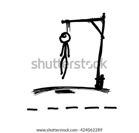 hangman game vector drawing