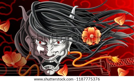 hannya background is japanese