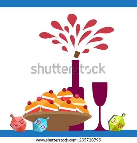 hanukkah symbols and food