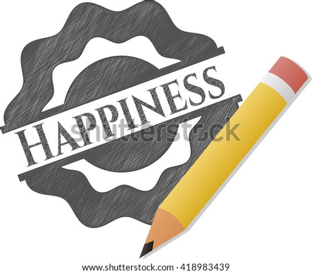 Happiness draw (pencil strokes)