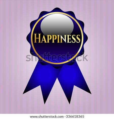 Happiness gold shiny emblem
