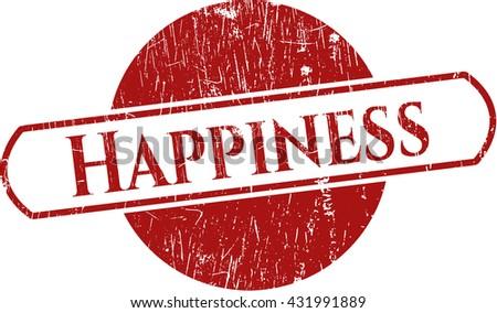 Happiness grunge stamp