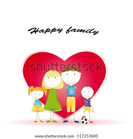 happy and cute all family and heart