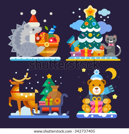 happy and cute christmas