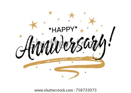 happy anniversary lettering vectors download free vector art