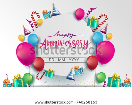 stock-vector-happy-anniversary-typography-vector-design-for-greeting-cards-and-poster-with-balloon-confetti-and