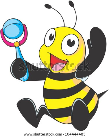 Happy Baby Bee Cartoon Stock Vector 104444483 : Shutterstock