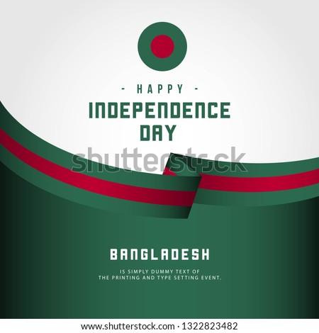 Happy Bangladesh Day Vector Template Design Illustration