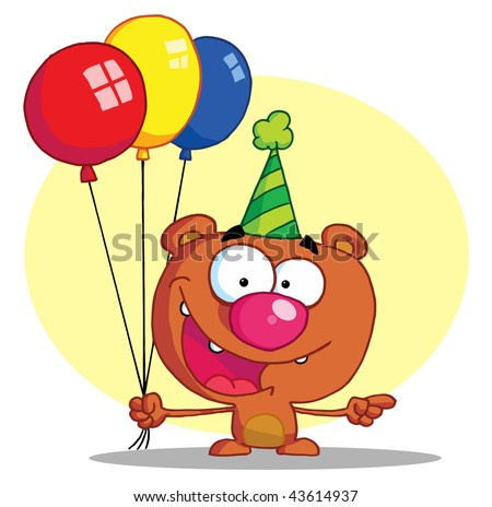 Party Balloons Clip Art. Birthday Balloons Clip Art.