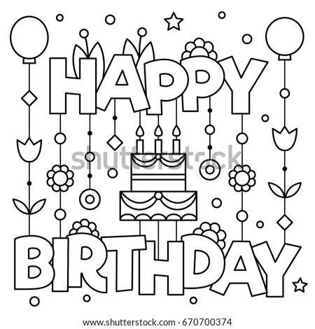 Happy Birthday Coloring Pages For Adults At GetDrawings Free Download