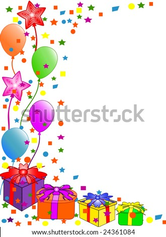 happy birthday balloons gif. irthday balloons border.