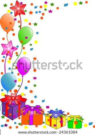 happy birthday balloons gif. irthday balloons border.