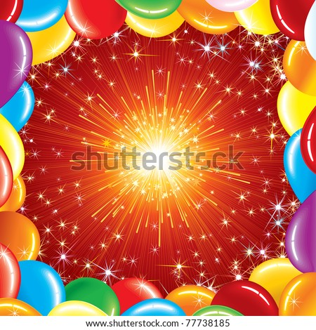 Happy Birthday Background, vector illustration for your greeting text or design
