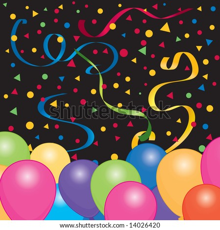 stock vector : Happy Birthday background / wallpaper with bright color