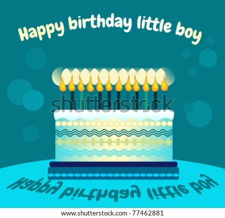 Happy Birthday Boy Greeting Card Stock Vector 77462881