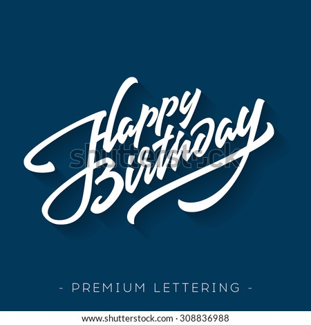 happy birthday brush script