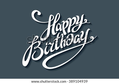Happy Birthday Fonts ~ Birthday title vectors download free vector art stock graphics