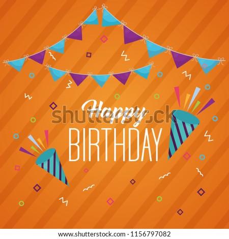 happy birthday card - Shutterstock ID 1156797082