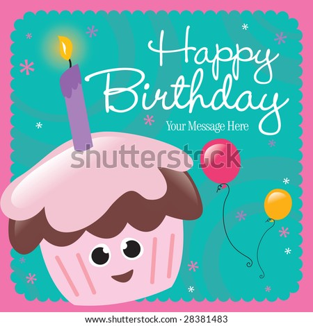 Happy Birthday Card Stock Vector 28381483 : Shutterstoc