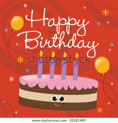 Happy Birthday Card Stock Vector 28381489 : Shutterstoc