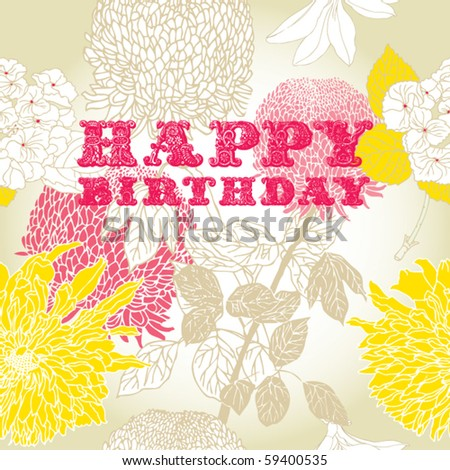 ... vector happy birthday vintage cupcake background fi