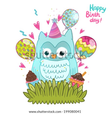 Happy Birthday Owl Card Images Free Birthday Card Design