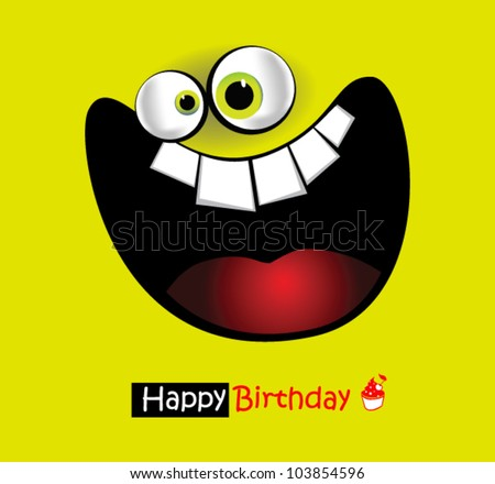 Happy Birthday Card big smile