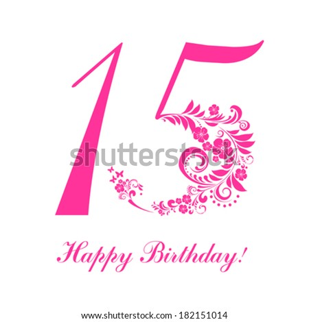 Happy Birthday Card. Celebration Background With Number ...