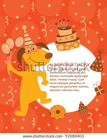 Happy Birthday Card Design For Kids Stock Vector 920804