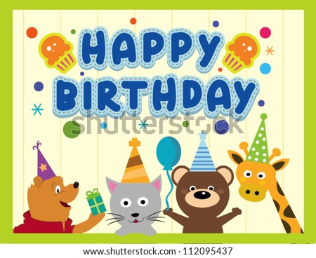 stock-vector-happy-birthday-card-design-with-cute-animals-112095437.jpg