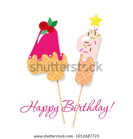 happy birthday card festive