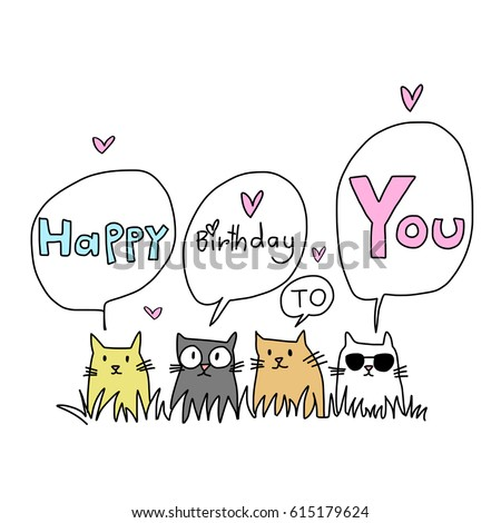 happy birthday card for cat