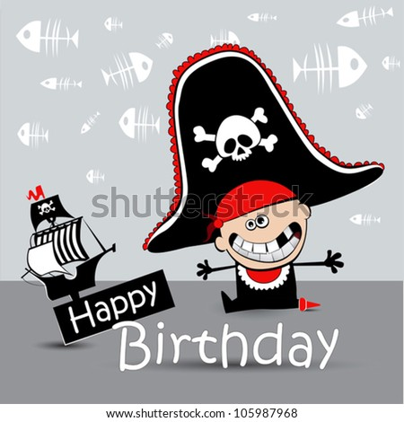 Happy Birthday Card pirate
